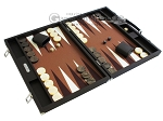 picture of Hector Saxe Leatherette Backgammon Set - Chocolate (2 of 12)