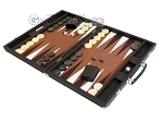 picture of Hector Saxe Leatherette Backgammon Set - Chocolate (3 of 12)