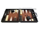picture of Hector Saxe Leatherette Backgammon Set - Chocolate (4 of 12)