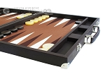 picture of Hector Saxe Leatherette Backgammon Set - Chocolate (6 of 12)