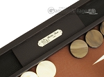 picture of Hector Saxe Leatherette Backgammon Set - Chocolate (7 of 12)