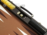 picture of Hector Saxe Leatherette Backgammon Set - Chocolate (9 of 12)