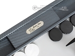 picture of Hector Saxe Carbon Linen/Leather Backgammon Set - Grey (7 of 12)