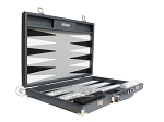 picture of Hector Saxe Carbon Linen/Leather Backgammon Set - Grey (10 of 12)