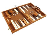 picture of Hector Saxe Suede Leather Backgammon Set - Havana (2 of 12)