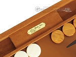 picture of Hector Saxe Suede Leather Backgammon Set - Havana (7 of 12)