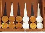 picture of Hector Saxe Suede Leather Backgammon Set - Havana (8 of 12)