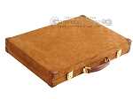 picture of Hector Saxe Suede Leather Backgammon Set - Havana (11 of 12)