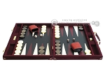picture of Hector Saxe Suede Leather Backgammon Set - Maroon (4 of 12)