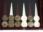 picture of Hector Saxe Suede Leather Backgammon Set - Maroon (8 of 12)