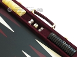 picture of Hector Saxe Suede Leather Backgammon Set - Maroon (9 of 12)