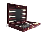 picture of Hector Saxe Suede Leather Backgammon Set - Maroon (10 of 12)