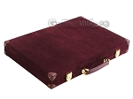picture of Hector Saxe Suede Leather Backgammon Set - Maroon (11 of 12)