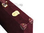 picture of Hector Saxe Suede Leather Backgammon Set - Maroon (12 of 12)