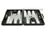 picture of Hector Saxe Calfskin Leather Backgammon Set - Black (4 of 12)