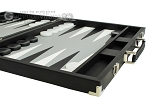 picture of Hector Saxe Calfskin Leather Backgammon Set - Black (6 of 12)
