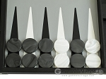 picture of Hector Saxe Calfskin Leather Backgammon Set - Black (8 of 12)