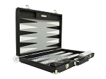 picture of Hector Saxe Calfskin Leather Backgammon Set - Black (10 of 12)