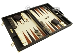 picture of Hector Saxe Calfskin Leather Backgammon Set - Chocolate (2 of 12)