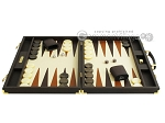 picture of Hector Saxe Calfskin Leather Backgammon Set - Chocolate (4 of 12)