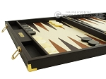picture of Hector Saxe Calfskin Leather Backgammon Set - Chocolate (5 of 12)