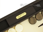 picture of Hector Saxe Calfskin Leather Backgammon Set - Chocolate (7 of 12)