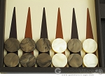 picture of Hector Saxe Calfskin Leather Backgammon Set - Chocolate (8 of 12)