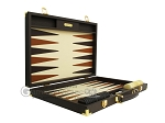 picture of Hector Saxe Calfskin Leather Backgammon Set - Chocolate (10 of 12)