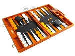 picture of Hector Saxe Croco Leather Backgammon Set - Orange (2 of 12)