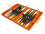 picture of Hector Saxe Croco Leather Backgammon Set - Orange (3 of 12)