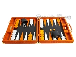 picture of Hector Saxe Croco Leather Backgammon Set - Orange (4 of 12)