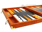 picture of Hector Saxe Croco Leather Backgammon Set - Orange (5 of 12)