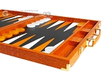 picture of Hector Saxe Croco Leather Backgammon Set - Orange (6 of 12)