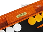 picture of Hector Saxe Croco Leather Backgammon Set - Orange (7 of 12)
