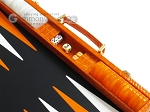 picture of Hector Saxe Croco Leather Backgammon Set - Orange (9 of 12)