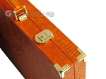picture of Hector Saxe Croco Leather Backgammon Set - Orange (12 of 12)