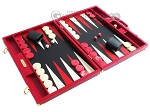 picture of Hector Saxe Croco Leather Backgammon Set - Red (2 of 12)