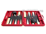 picture of Hector Saxe Croco Leather Backgammon Set - Red (4 of 12)