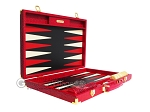 picture of Hector Saxe Croco Leather Backgammon Set - Red (10 of 12)