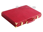 picture of Hector Saxe Croco Leather Backgammon Set - Red (11 of 12)
