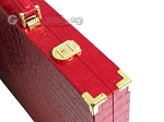 picture of Hector Saxe Croco Leather Backgammon Set - Red (12 of 12)