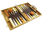picture of Hector Saxe Croco Leather Backgammon Set - Gold (2 of 12)
