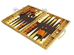 picture of Hector Saxe Croco Leather Backgammon Set - Gold (3 of 12)