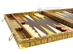 picture of Hector Saxe Croco Leather Backgammon Set - Gold (5 of 12)