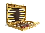 picture of Hector Saxe Croco Leather Backgammon Set - Gold (10 of 12)