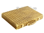 picture of Hector Saxe Croco Leather Backgammon Set - Gold (11 of 12)