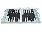 picture of Hector Saxe Croco Leather Backgammon Set - Silver (4 of 12)