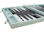 picture of Hector Saxe Croco Leather Backgammon Set - Silver (5 of 12)