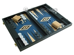 picture of 19-inch Black Backgammon Set - Blue (2 of 12)