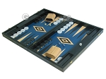 picture of 19-inch Black Backgammon Set - Blue (3 of 12)